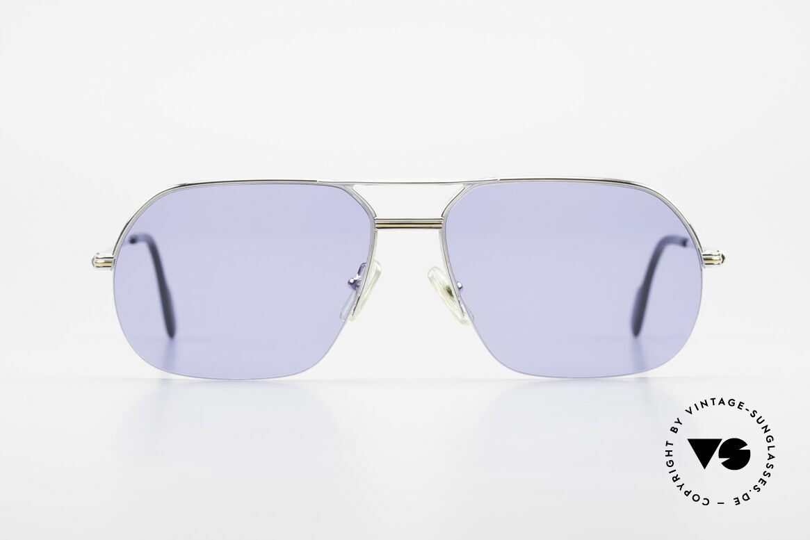 Cartier Orsay Luxury Vintage Sunglasses, model of the 'Semi-Rimless' Collection by CARTIER, Made for Men