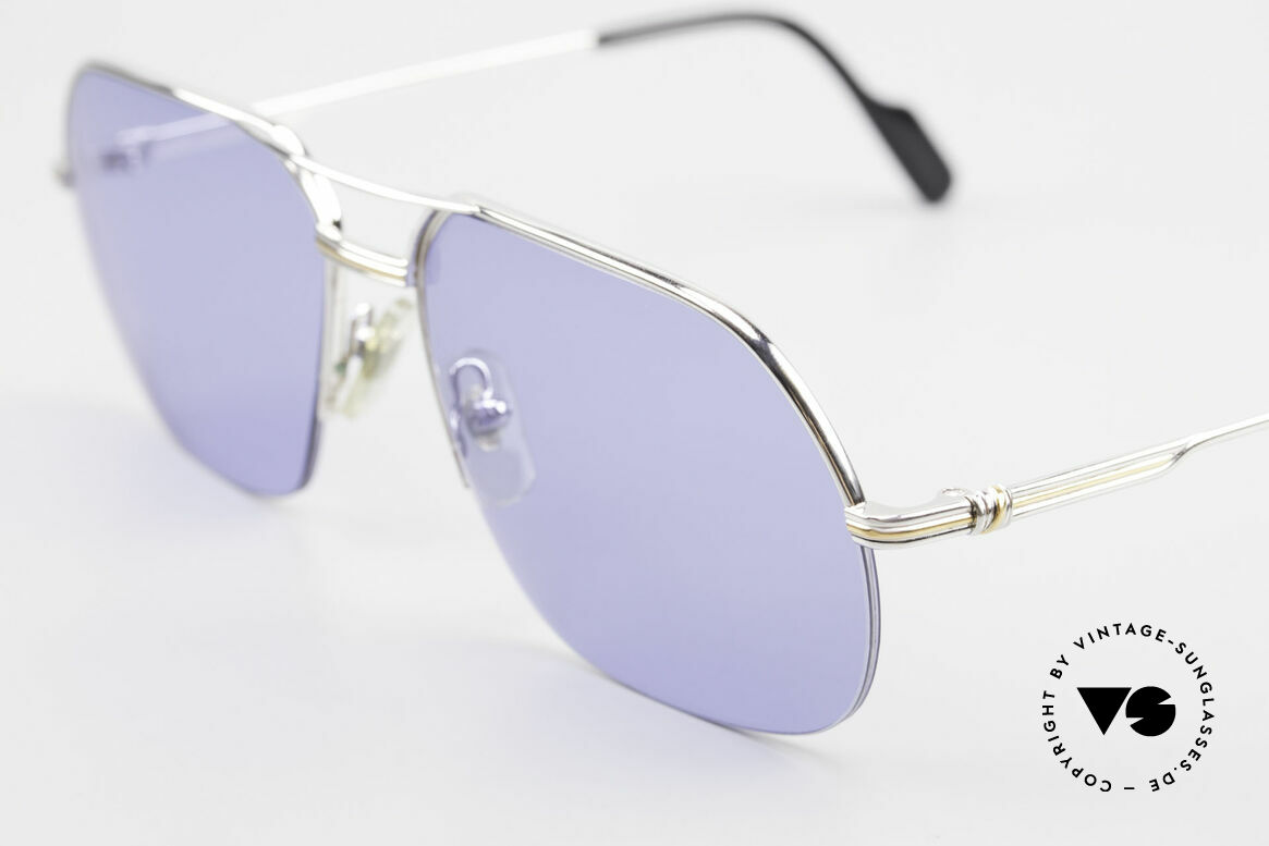Cartier Orsay Luxury Vintage Sunglasses, costly 'Platine Edition' (frame with platinum finish), Made for Men