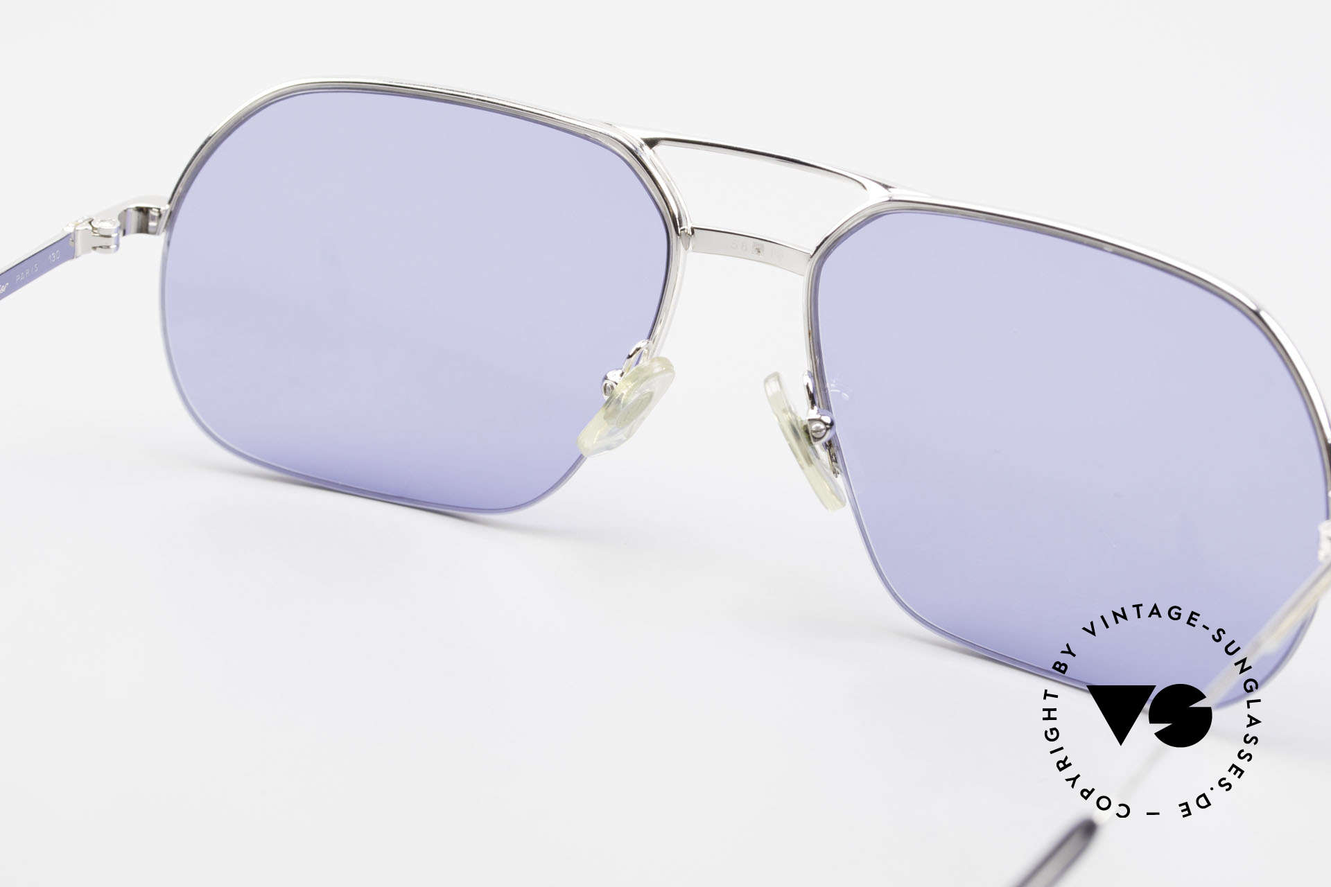 Cartier Orsay Luxury Vintage Sunglasses, with new CR39 UV400 sun lenses in blue (100% UV), Made for Men