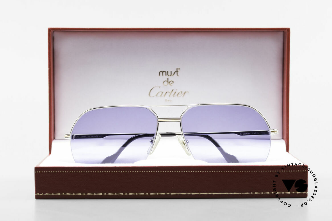 Cartier Orsay Luxury Vintage Sunglasses, NO retro sunglasses; an old original from app. 1993, Made for Men