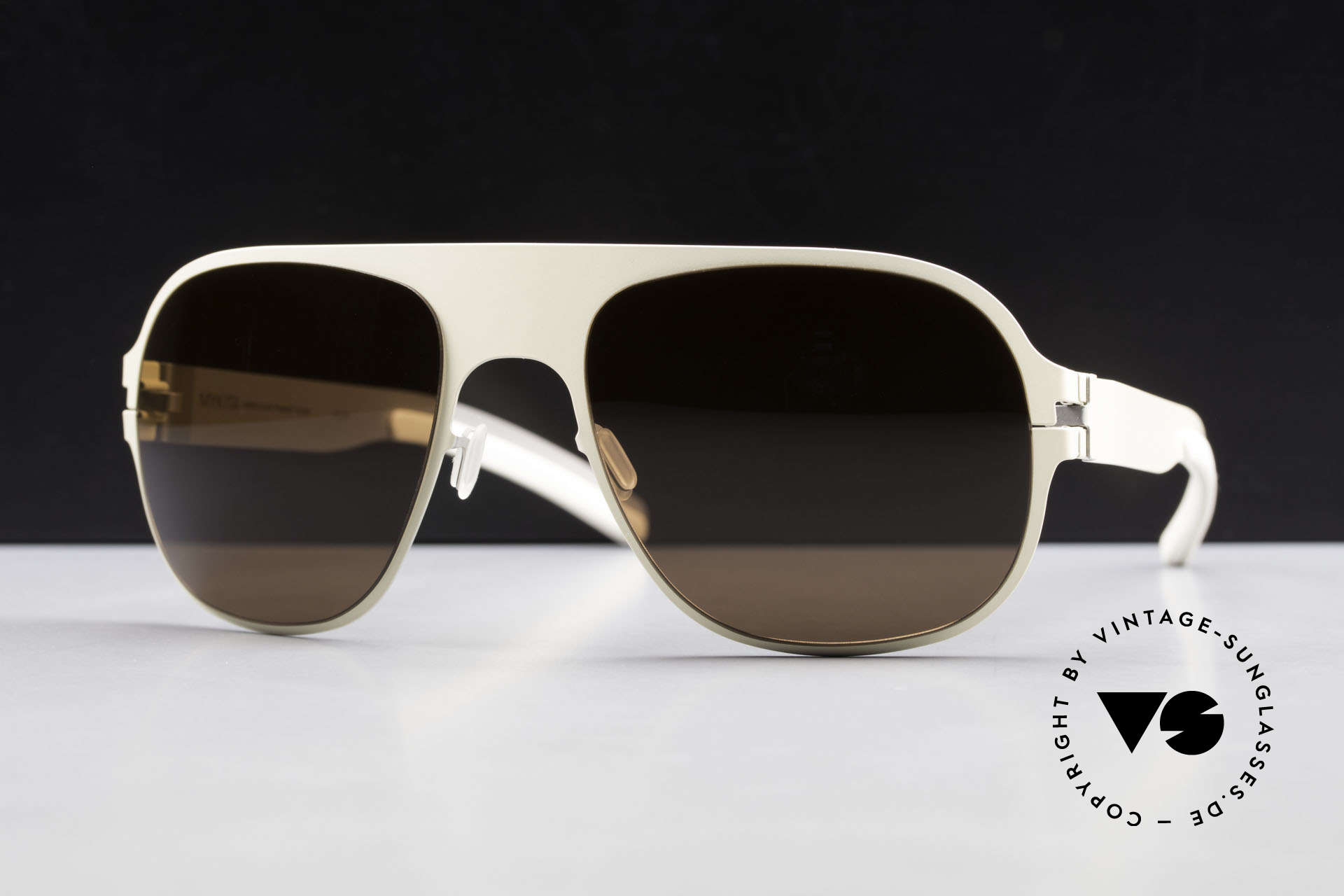 Mykita Rodney Limited Designer Sunglasses, Limited Flash Rodney Ivory SS10M, brown solid, 57/19, Made for Men