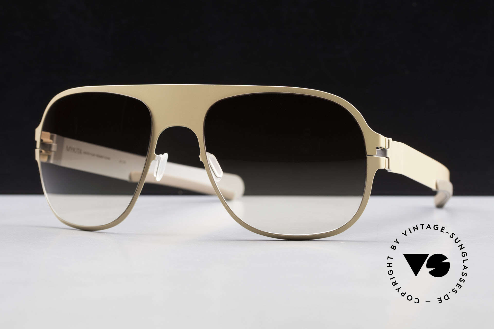 Mykita Rodney Designer Sunglasses Limited, Limited Flash Rodney Nude SS10M, brown gradient, 57/19, Made for Men