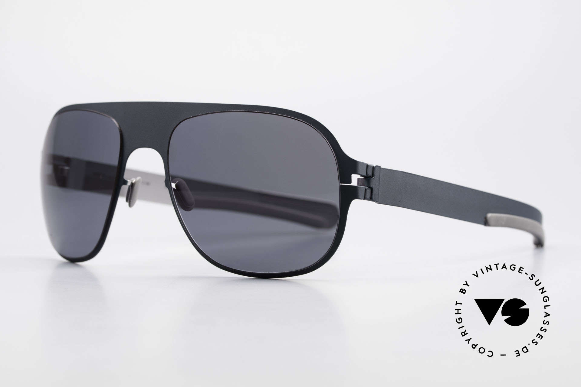 Mykita Rodney Limited Sunglasses From 2011, Limited Flash Rodney Indigo SS10M, black solid, 57/19, Made for Men