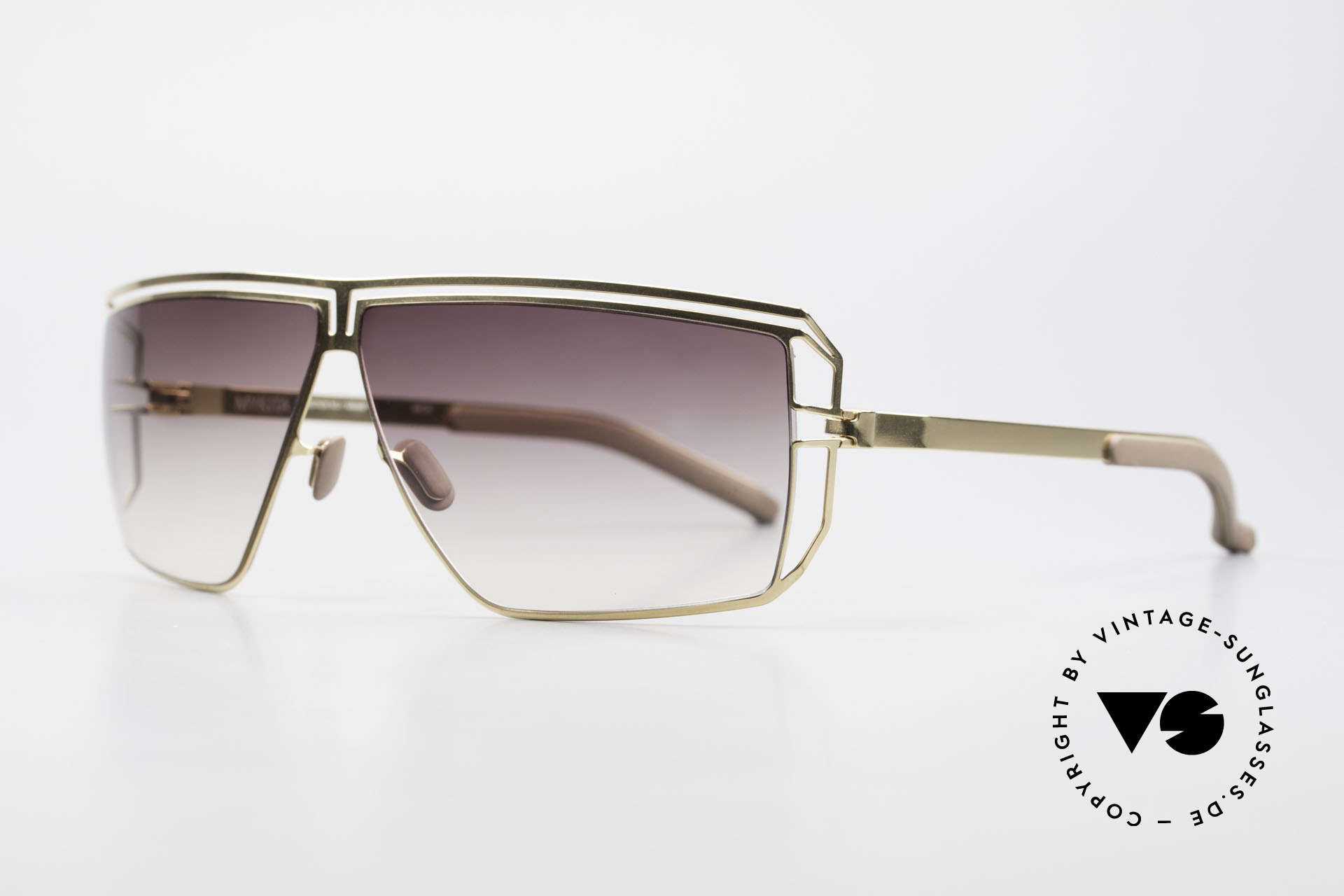 Mykita Anais Ladies Sunglasses From 2007, Mod. No.1 Anais Glossygold, brown-gradient, size 64/8, Made for Women