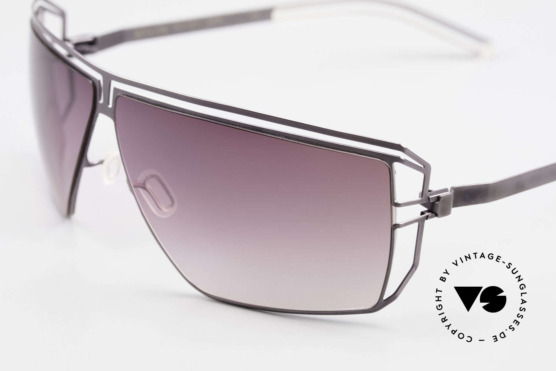 Mykita Anais Designer Sunglasses From 2007, innovative and flexible metal frame = One size fits all!, Made for Women