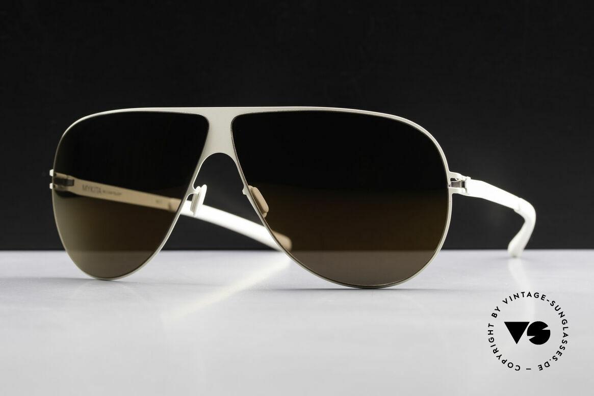 Mykita Elliot Tom Cruise Mykita Sunglasses, Mod. No.1 Sun Elliot Offwhite, brown-flash, size 68/07, Made for Men
