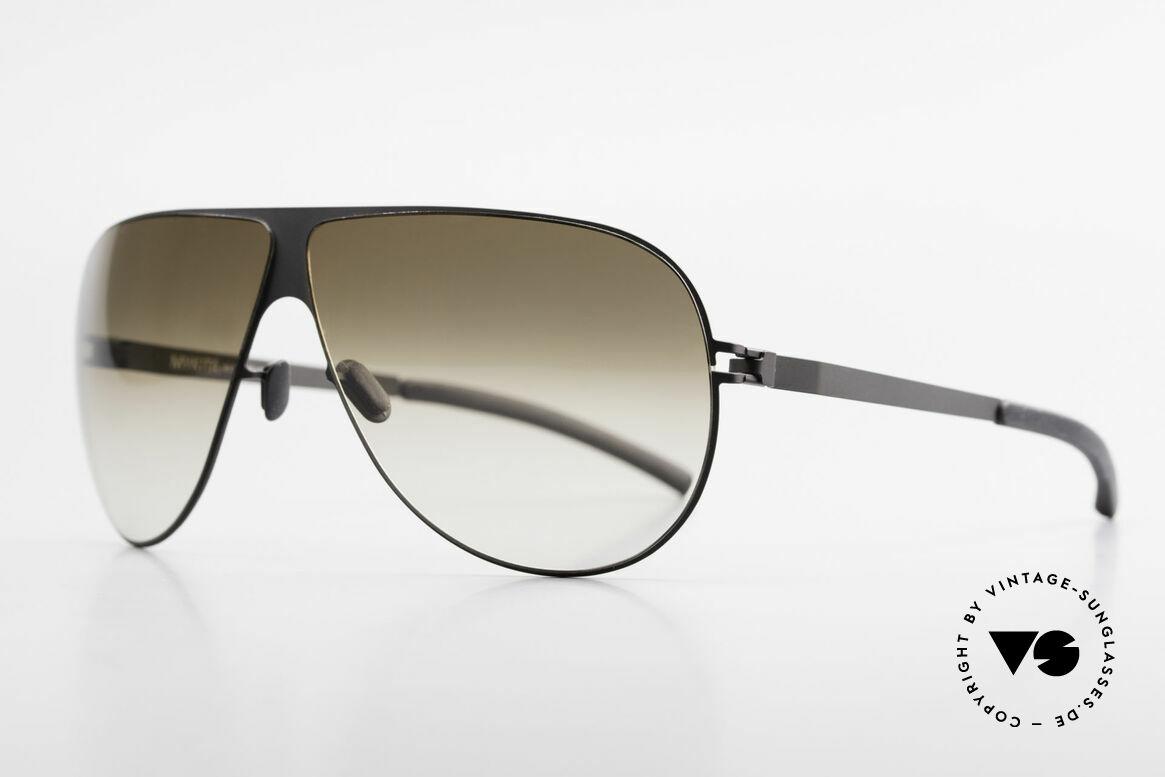 Mykita Elliot Mykita Tom Cruise Sunglasses, Mod. No.1 Sun Elliot Black, brown-gradient flash, 68/07, Made for Men