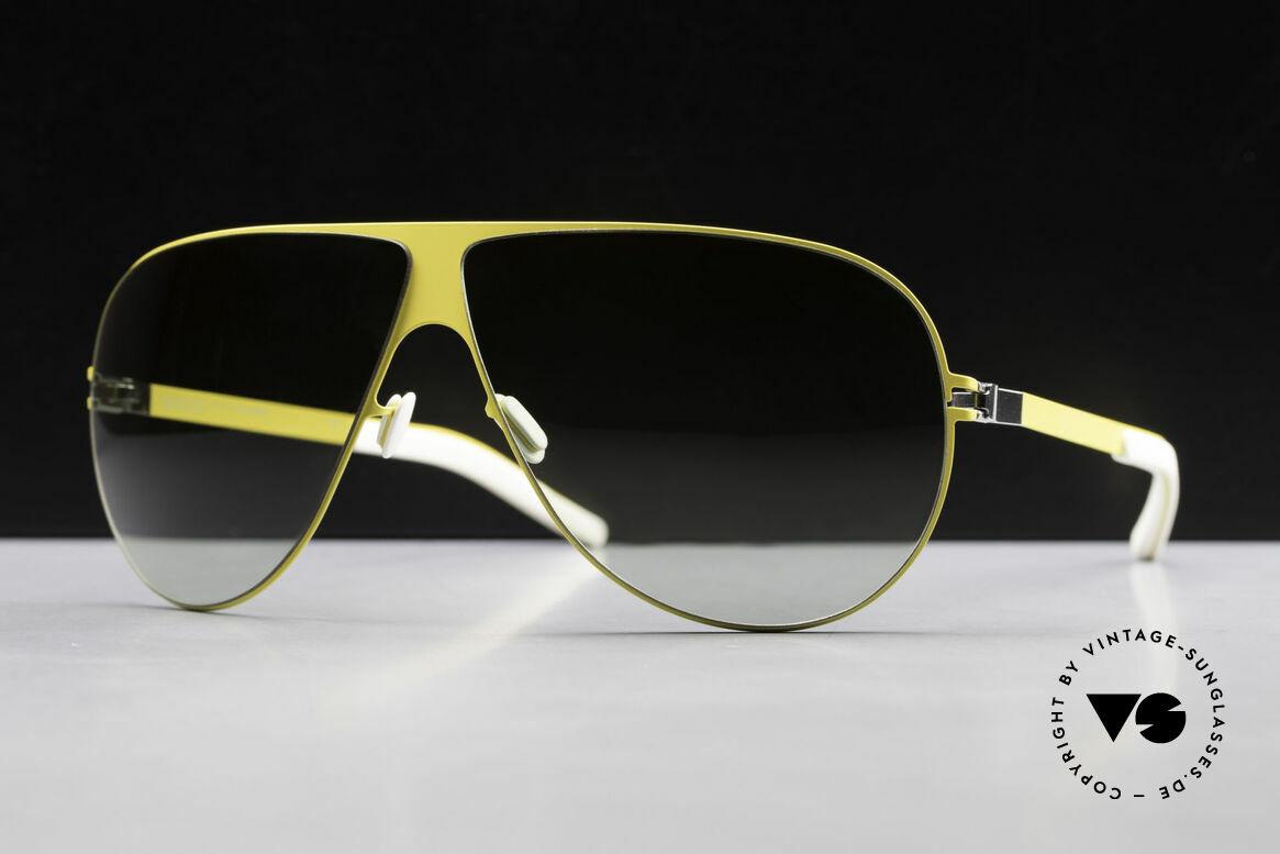 Mykita Elliot Tom Cruise Aviator Shades 2011, Mod. No.1 Flash Elliot Yellow, green-gradient, size 68/7, Made for Men