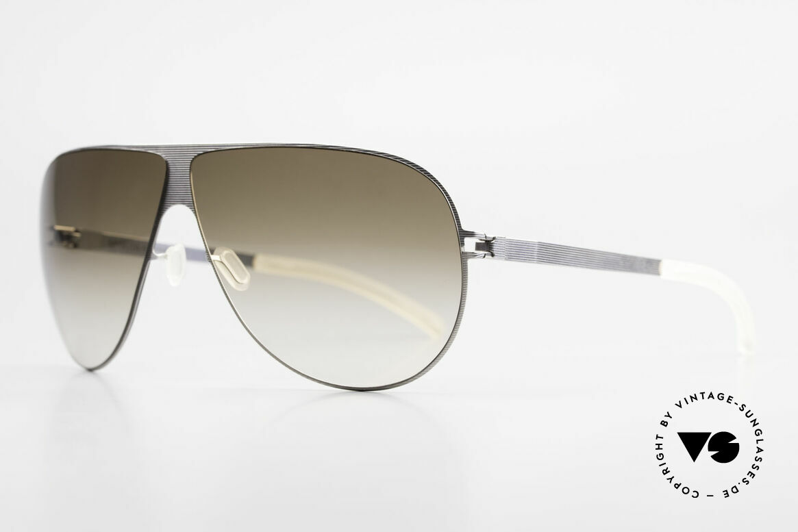 Mykita Elliot 2011 Tom Cruise Aviator Shades, Mod. No.1 Sun Elliot Silverline, olive-gradient, 68/07, Made for Men