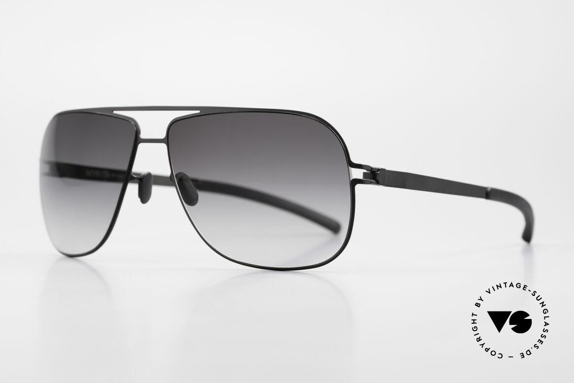 Mykita Rolf Brad Pitt Mykita Sunglasses, Model No.1 Sun Rolf Black, gray-gradient, size 59/12, Made for Men and Women