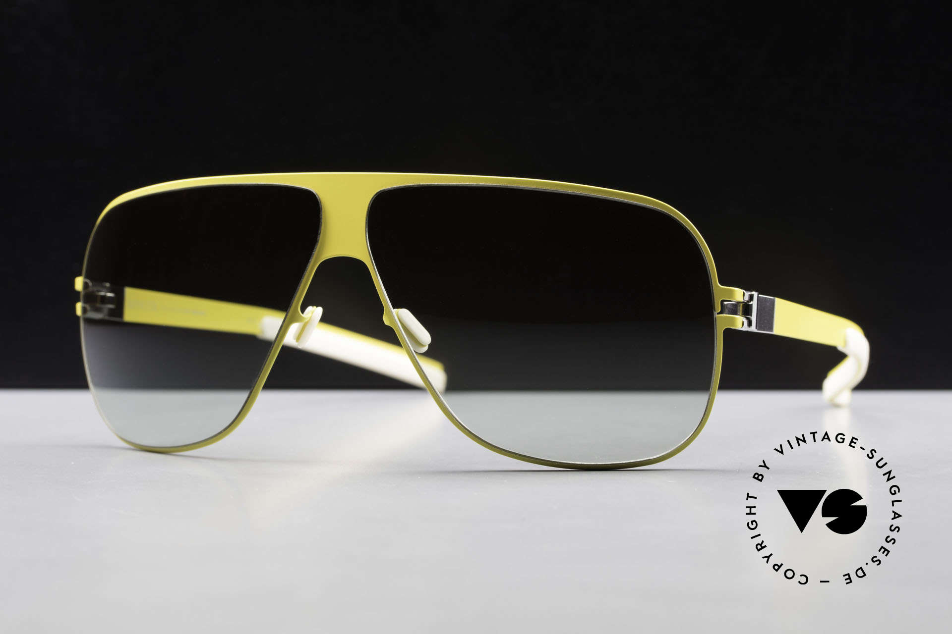 Mykita Hector Aviator Mykita Shades 2009's, Collection Flash Hector Yellow, green-gradient, 65/08, Made for Men