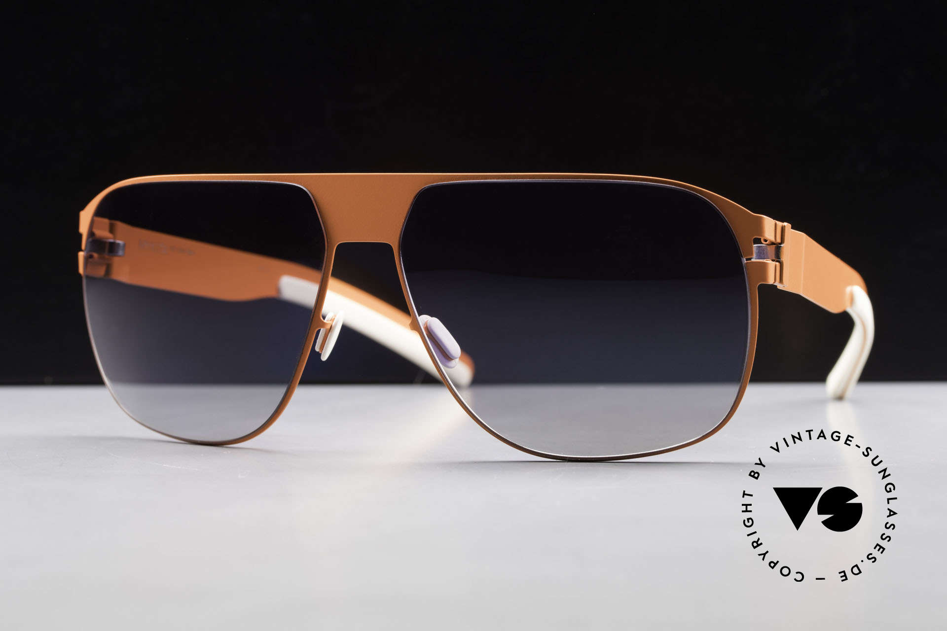 Mykita Tim Collection No 1 Shades 2011's, Model No.1 Sun Tim Neonorange, black gradient, 61/14, Made for Men