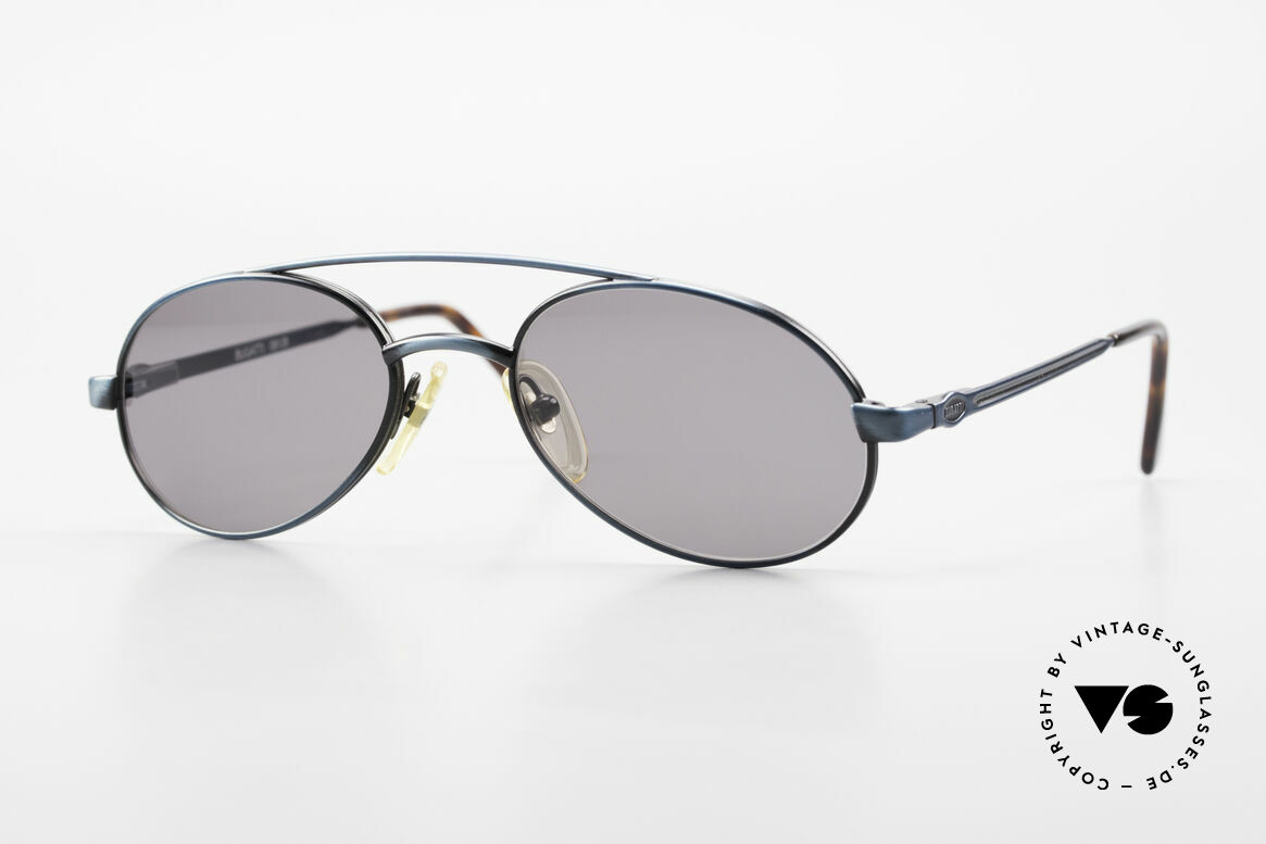 Bugatti 08128 Metal Frame With Spring Hinges, classic Bugatti sunglasses from app. 1995/96, Made for Men