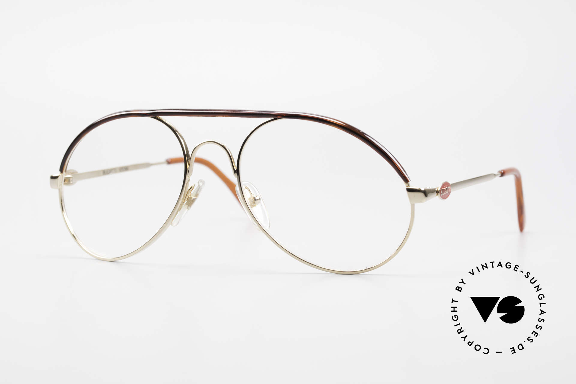 Bugatti 65986 Men's 80's Frame Gold Plated, classic Bugatti eyeglasses from app. 1985/86, Made for Men
