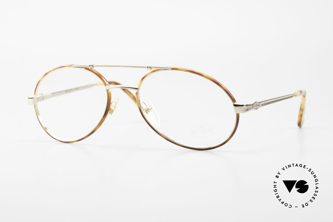 Bugatti 14782 Luxury 80's Eyeglass-Frame, sophisticated Bugatti luxury eyeglasses of the 80s, Made for Men