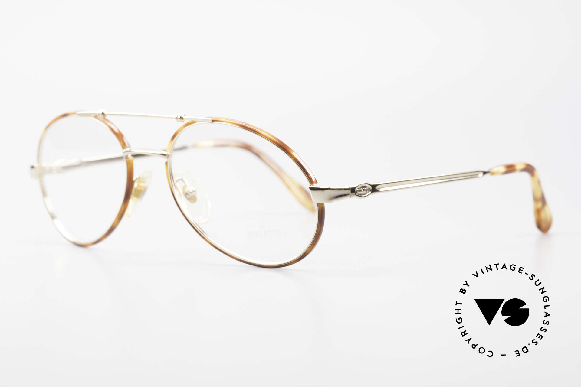 Bugatti 14782 Luxury 80's Eyeglass-Frame, 1st class wearing comfort (flexible spring hinges), Made for Men