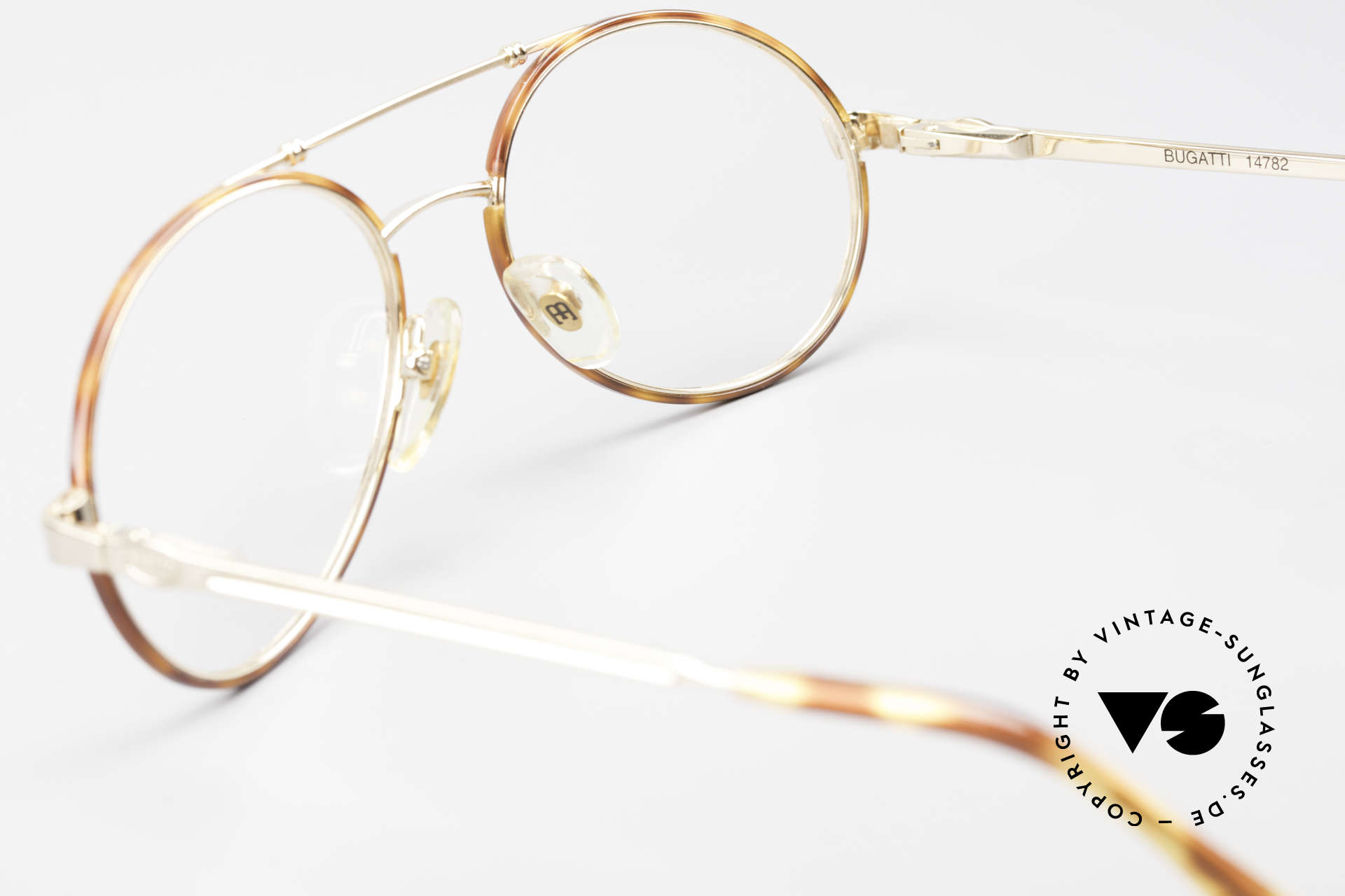 Bugatti 14782 Luxury 80's Eyeglass-Frame, the frame (in size 55/19) can be glazed optionally, Made for Men