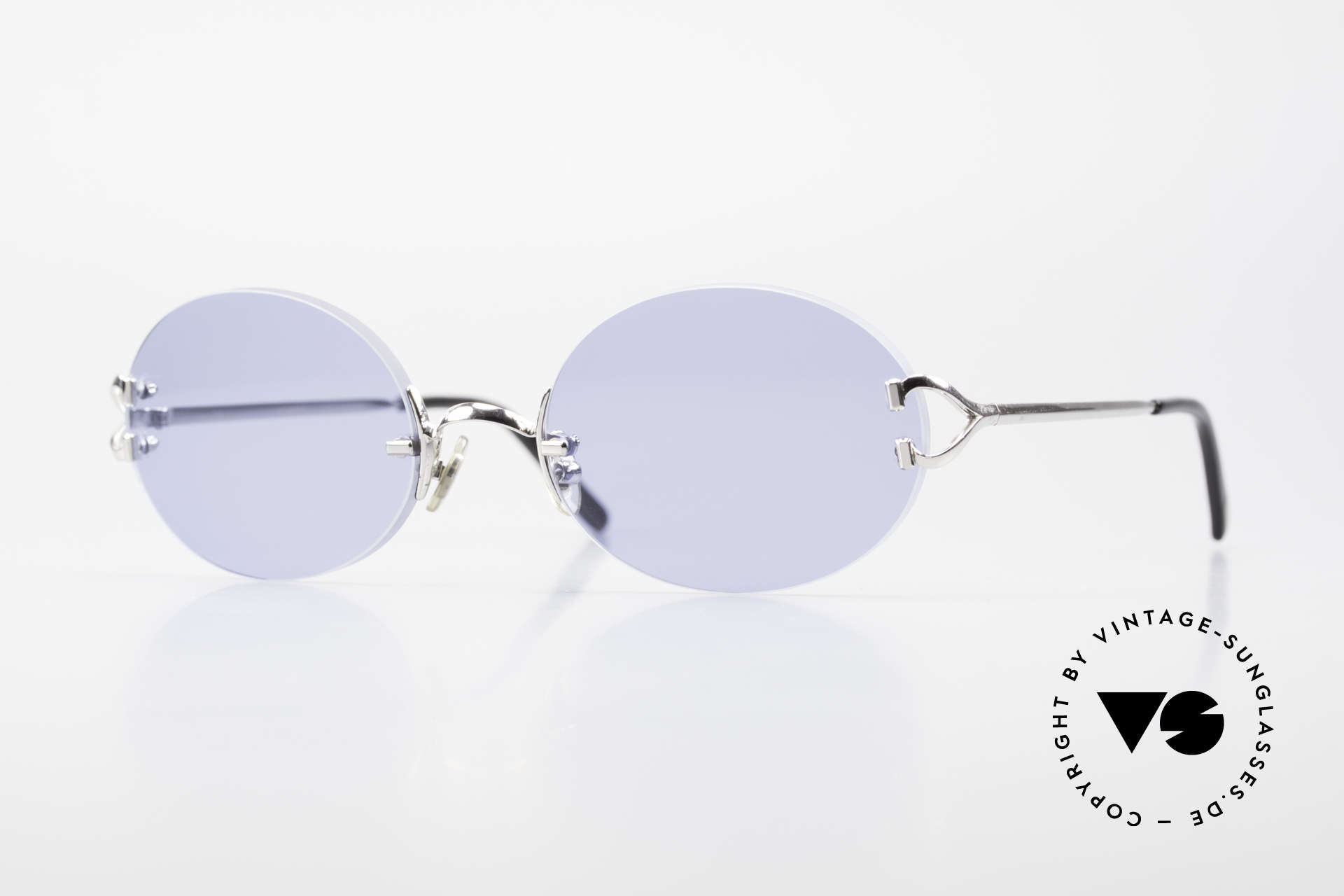 Cartier Rimless Giverny Oval Rimless Luxury Shades, noble rimless Cartier luxury sunglasses from 1999, Made for Men and Women