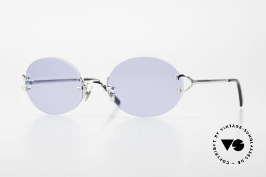 Cartier Rimless Giverny Oval Rimless Luxury Shades Details