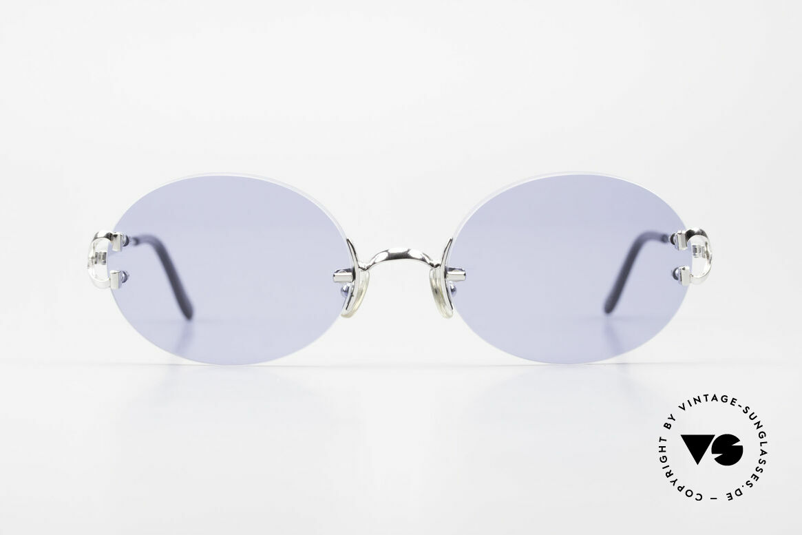Cartier Rimless Giverny Oval Rimless Luxury Shades, precious OVAL designer shades; PLATINUM finish!, Made for Men and Women
