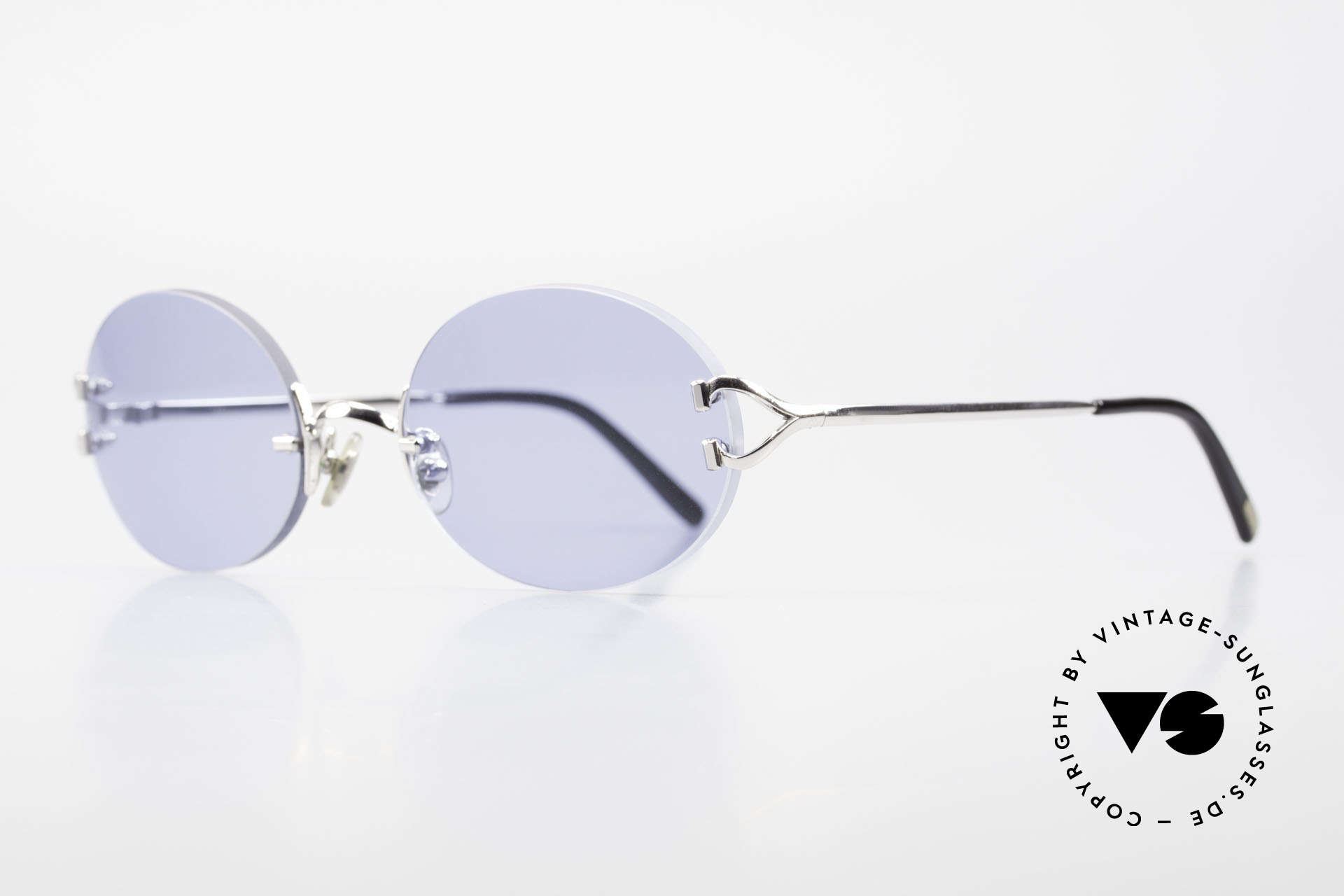 Cartier Rimless Giverny Oval Rimless Luxury Shades, model of the Rimless series with new oval sun lenses, Made for Men and Women