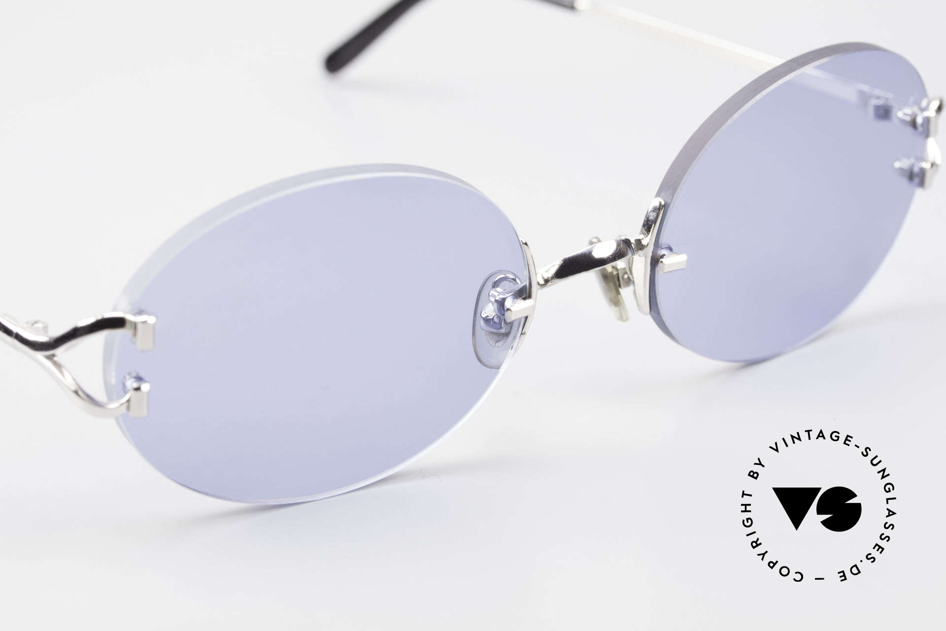 Cartier Rimless Giverny Oval Rimless Luxury Shades, 2. hand model, but in mint condition + Cartier box, Made for Men and Women