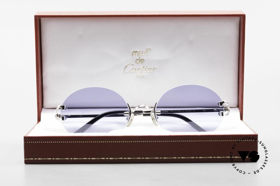 Cartier Rimless Giverny Oval Rimless Luxury Shades, NO retro sunglasses, but a rare old Cartier ORIGINAL, Made for Men and Women