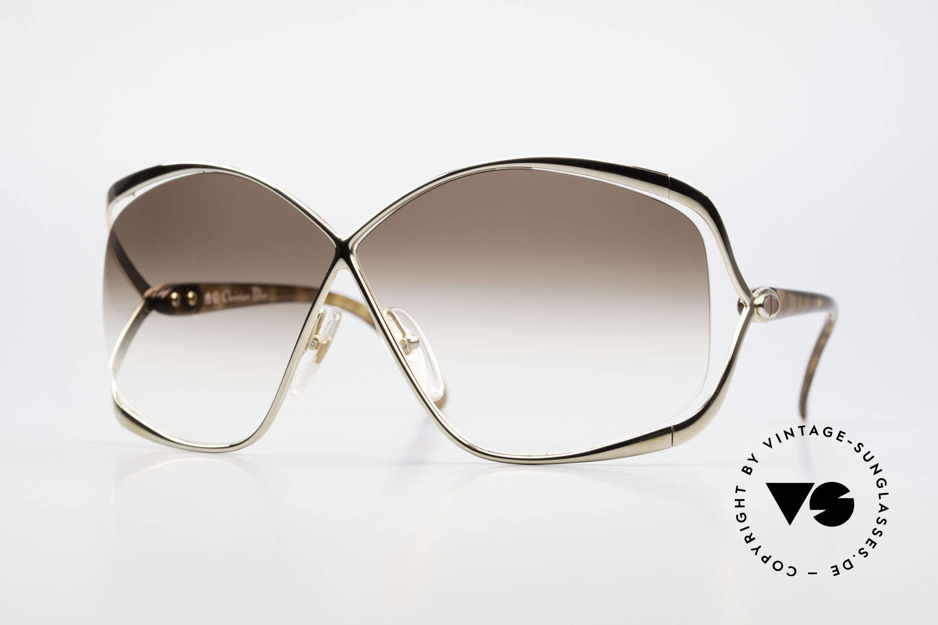 Christian Dior 2056 80's Butterfly Sunglasses, glamorous designer sunglasses by CHRISTIAN DIOR, Made for Women