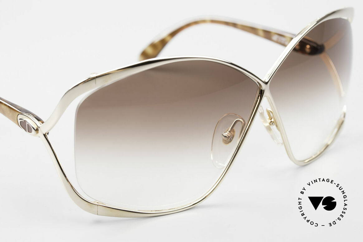 Christian Dior 2056 80's Butterfly Sunglasses, unworn single item incl. original hard case by Dior, Made for Women