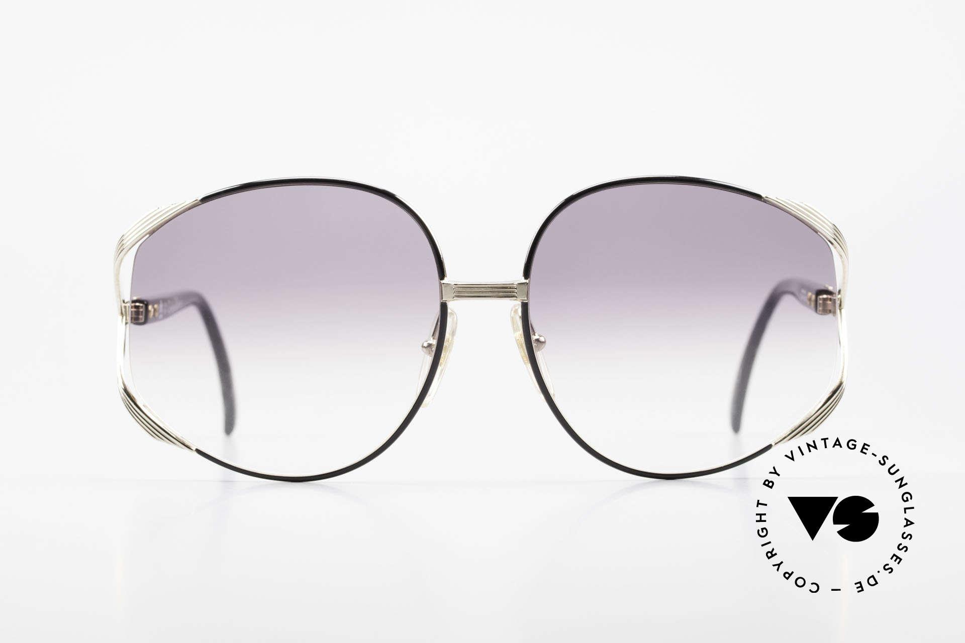 Christian Dior 2250 XL Oversized Shades 80's Ladies, feminine elegant design with huge gray-gradient lenses, Made for Women