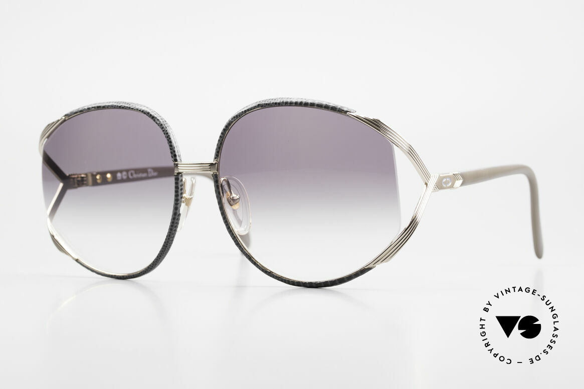 Christian Dior 2250 Rihanna Leather Sunglasses, oversized XL vintage ladies sunglasses by Christian DIOR, Made for Women