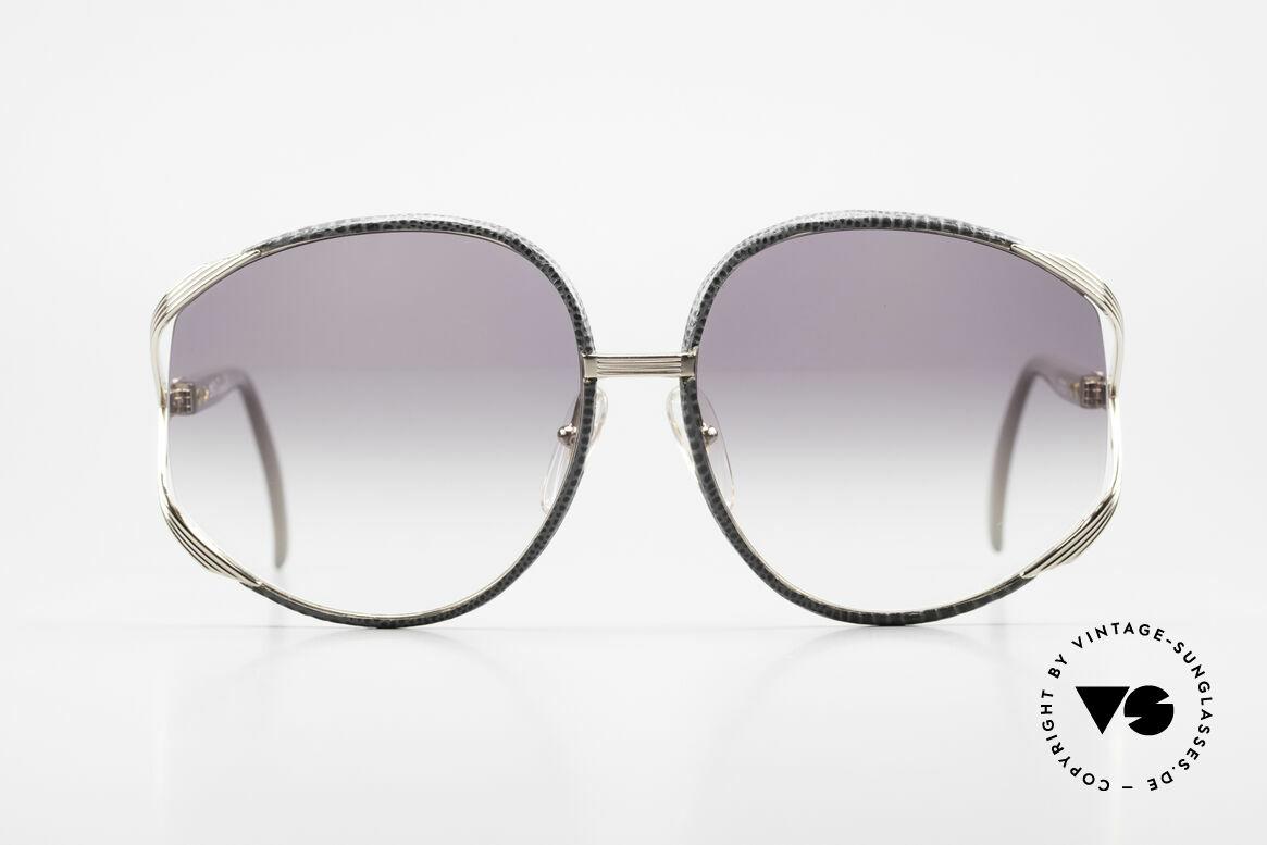 Christian Dior 2250 Rihanna Leather Sunglasses, feminine elegant design with huge orange-gradient lenses, Made for Women