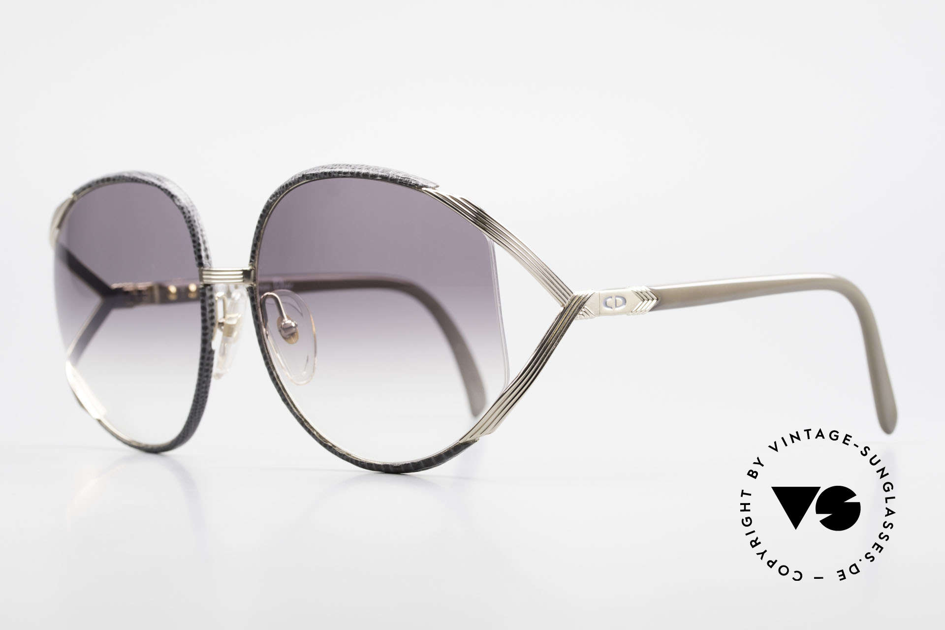 Christian Dior 2250 Rihanna Leather Sunglasses, precious 1980's model and utterly unique leather edition!, Made for Women