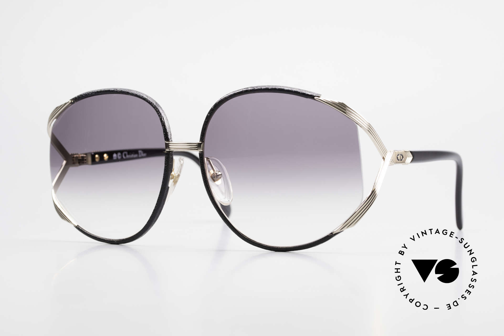 Christian Dior 2250 Rihanna Sunglasses Leather, oversized XL vintage ladies sunglasses by Christian DIOR, Made for Women