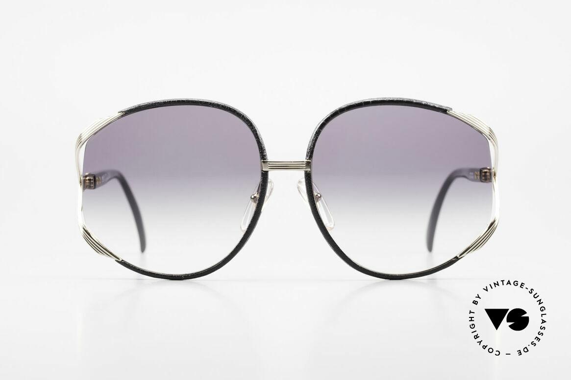 Christian Dior 2250 Rihanna Sunglasses Leather, feminine elegant design with huge orange-gradient lenses, Made for Women