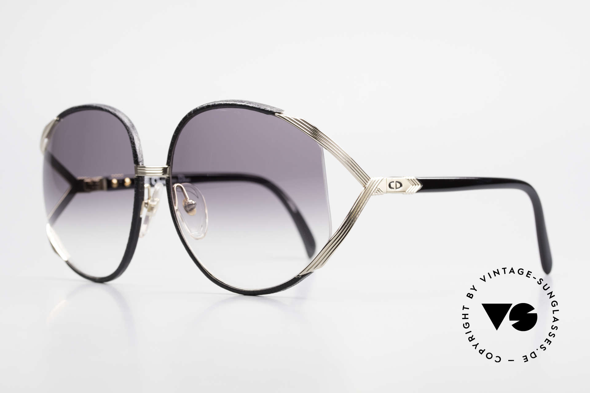 Christian Dior 2250 Rihanna Sunglasses Leather, precious 1980's model and utterly unique leather edition!, Made for Women
