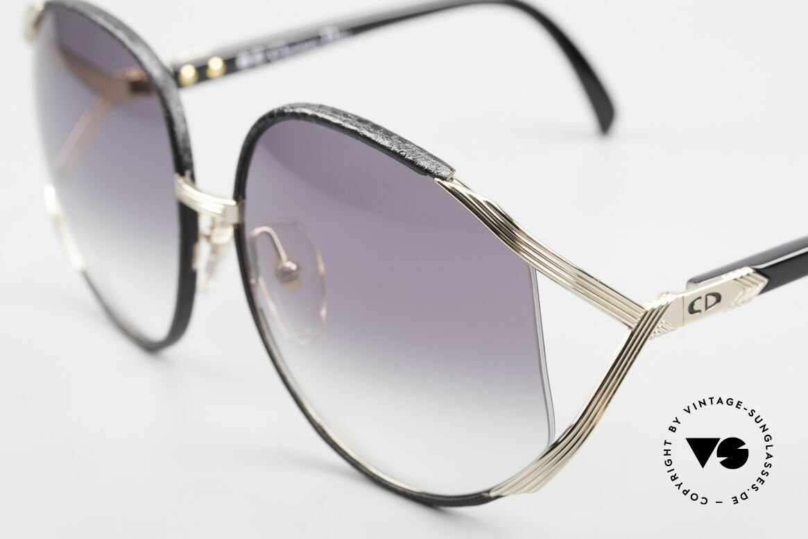 """Christian Dior 2250 Rihanna Sunglasses Leather, worn by Rihanna on the """"Man Down"""" single cover in 2011, Made for Women"""