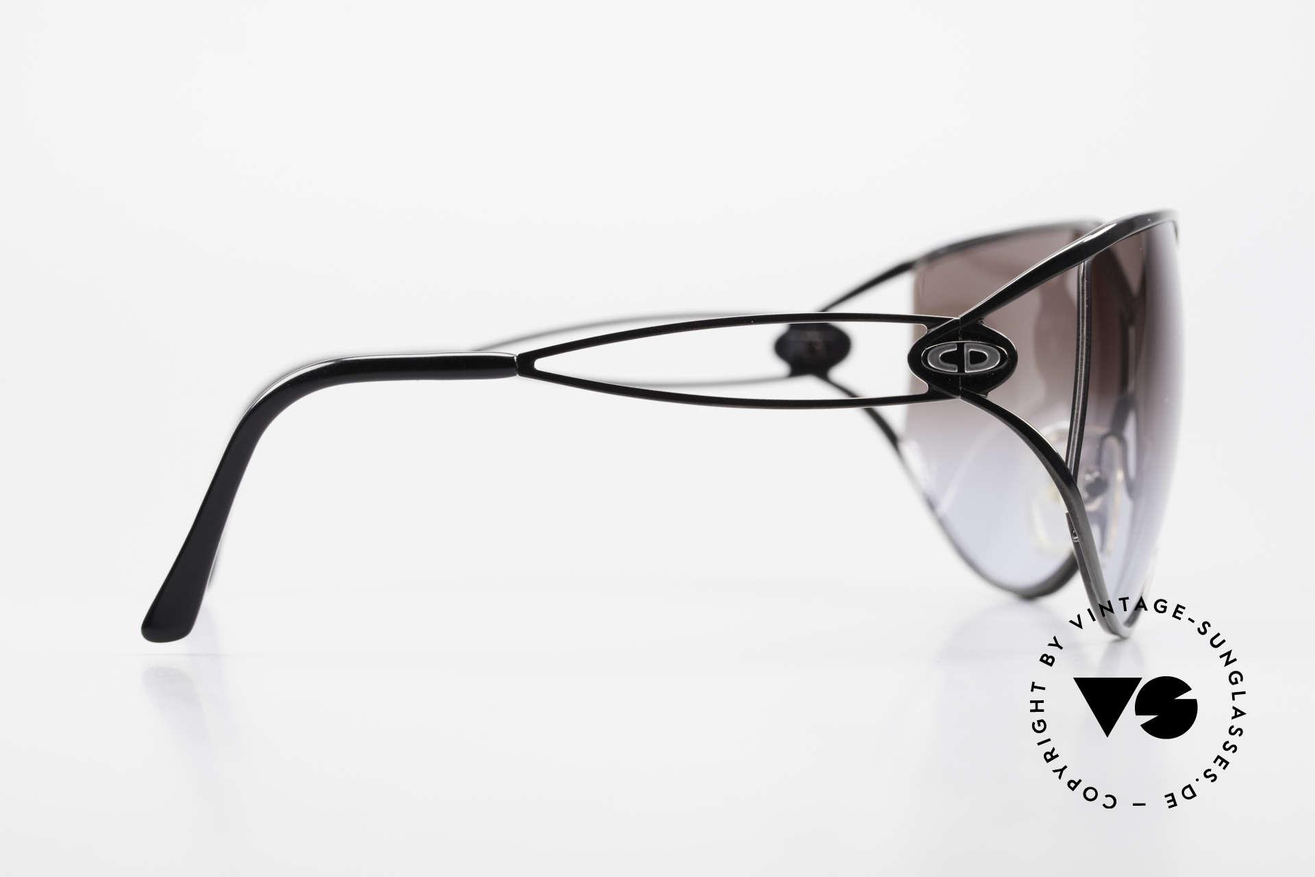 Christian Dior 2345 Ladies Designer Sunglasses 90s, gray-gradient sun lenses (100% UV protection), Made for Women