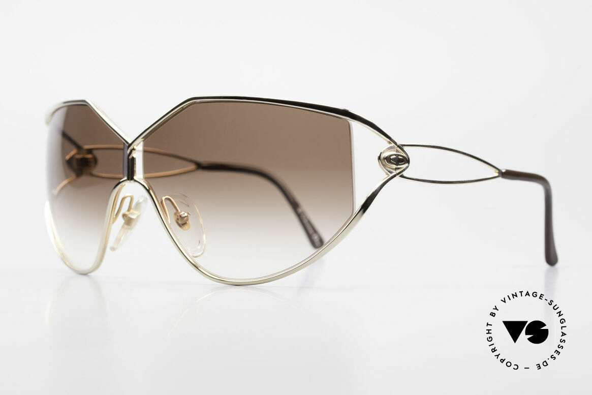 Christian Dior 2345 Ladies 90s Designer Sunglasses, the costly frame is GOLD-PLATED (très chic), Made for Women