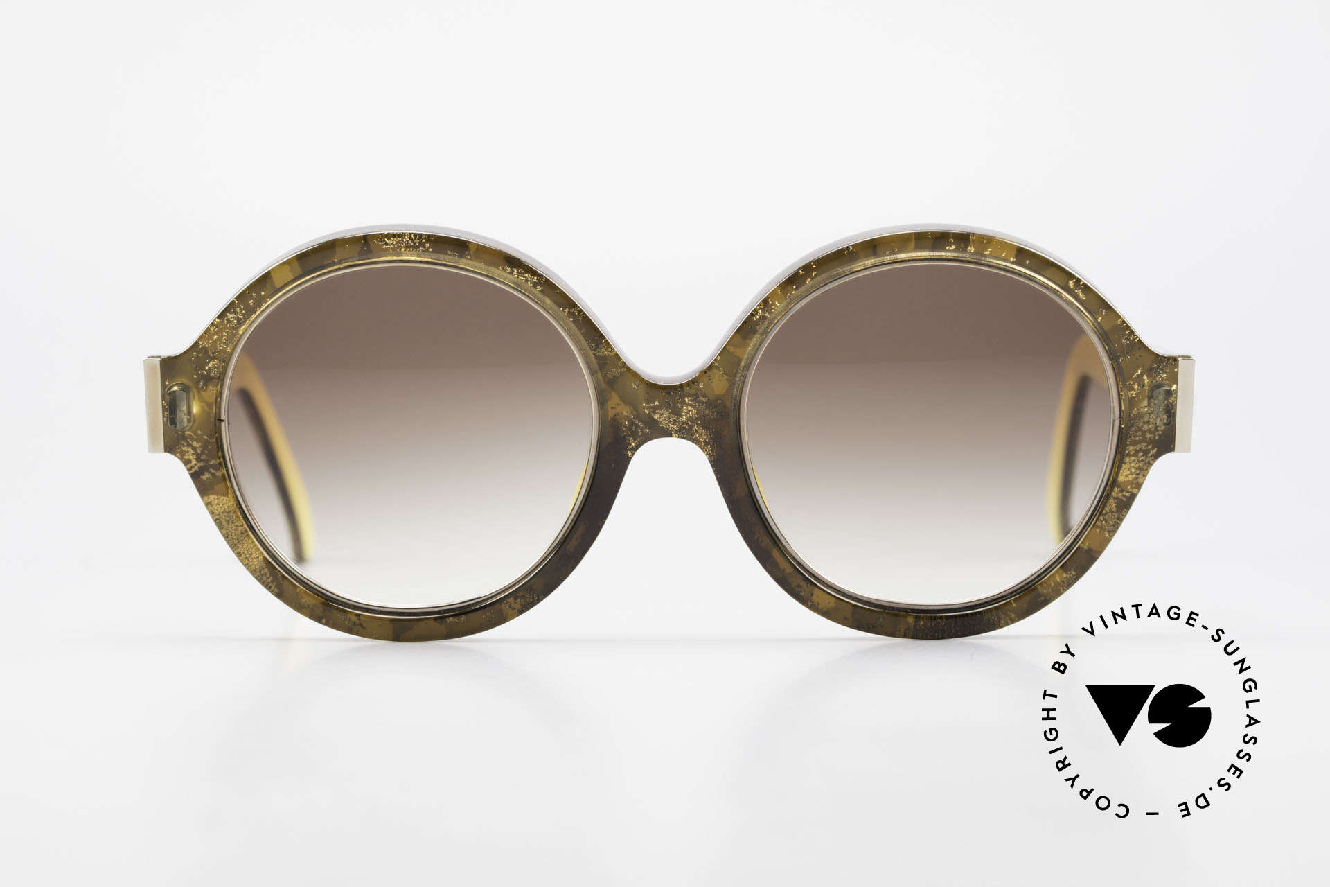 Christian Dior 2446 Round 80's Sunglasses Ladies, glamorous colors & pattern thanks to Optyl material, Made for Women