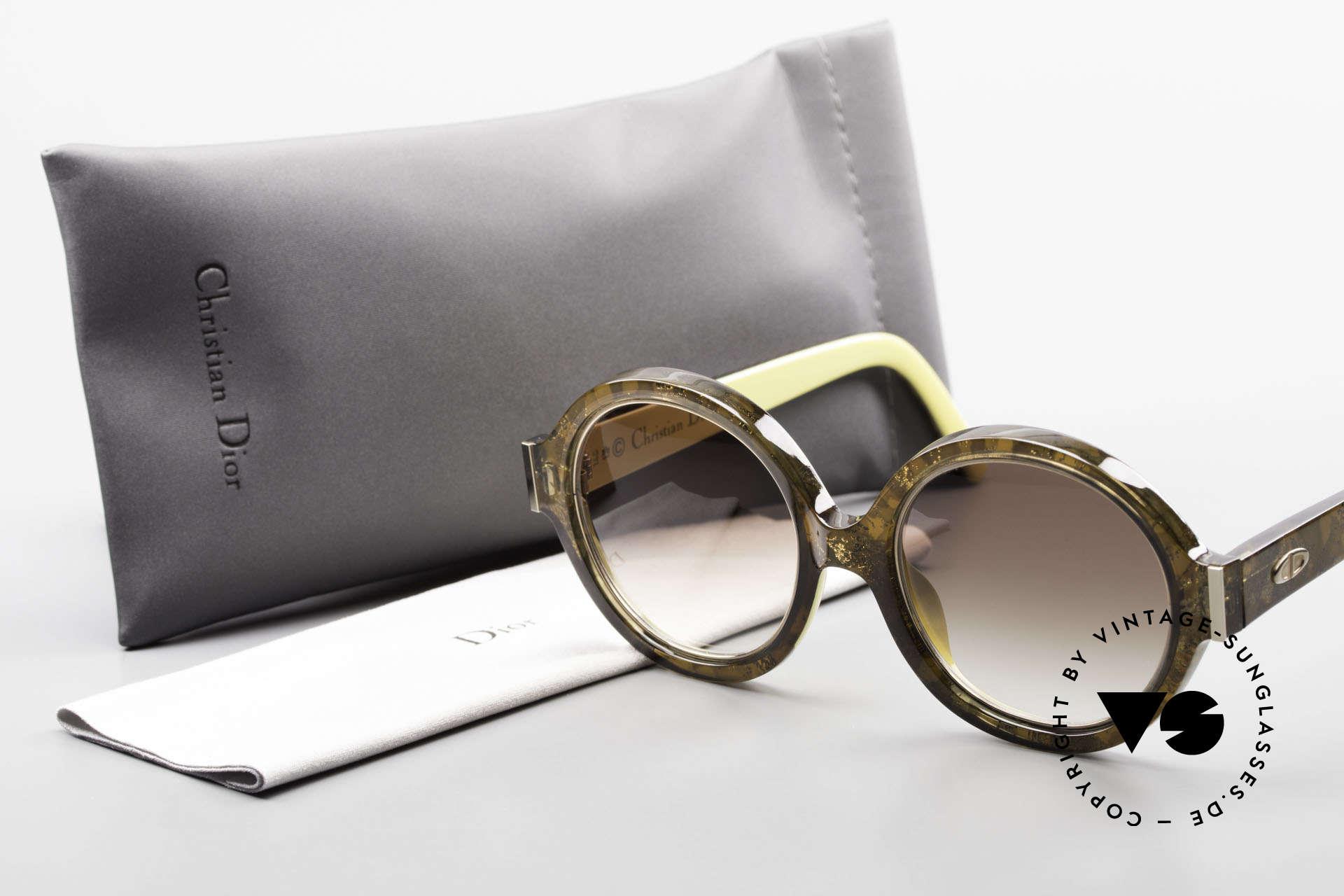 Christian Dior 2446 Round 80's Sunglasses Ladies, Size: medium, Made for Women