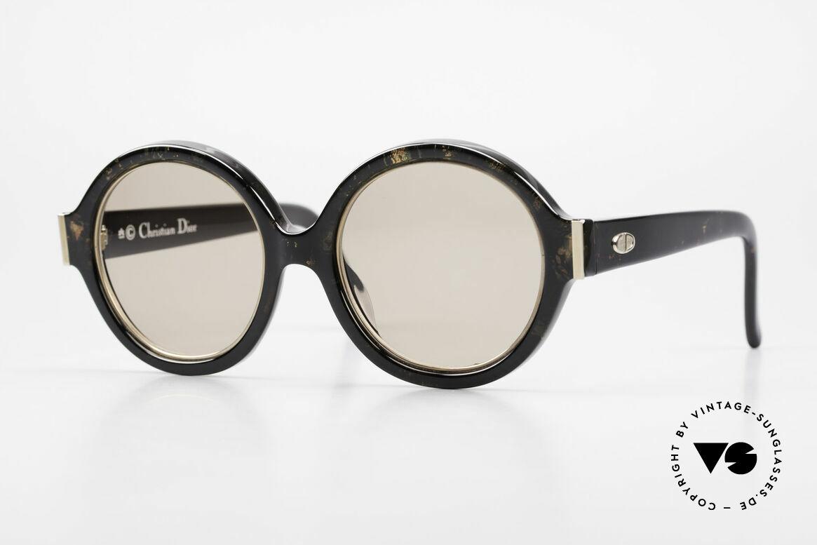 Christian Dior 2446 Round Ladies Sunglasses 80's, round 1980's ladies designer sunglasses by Chr. Dior, Made for Women