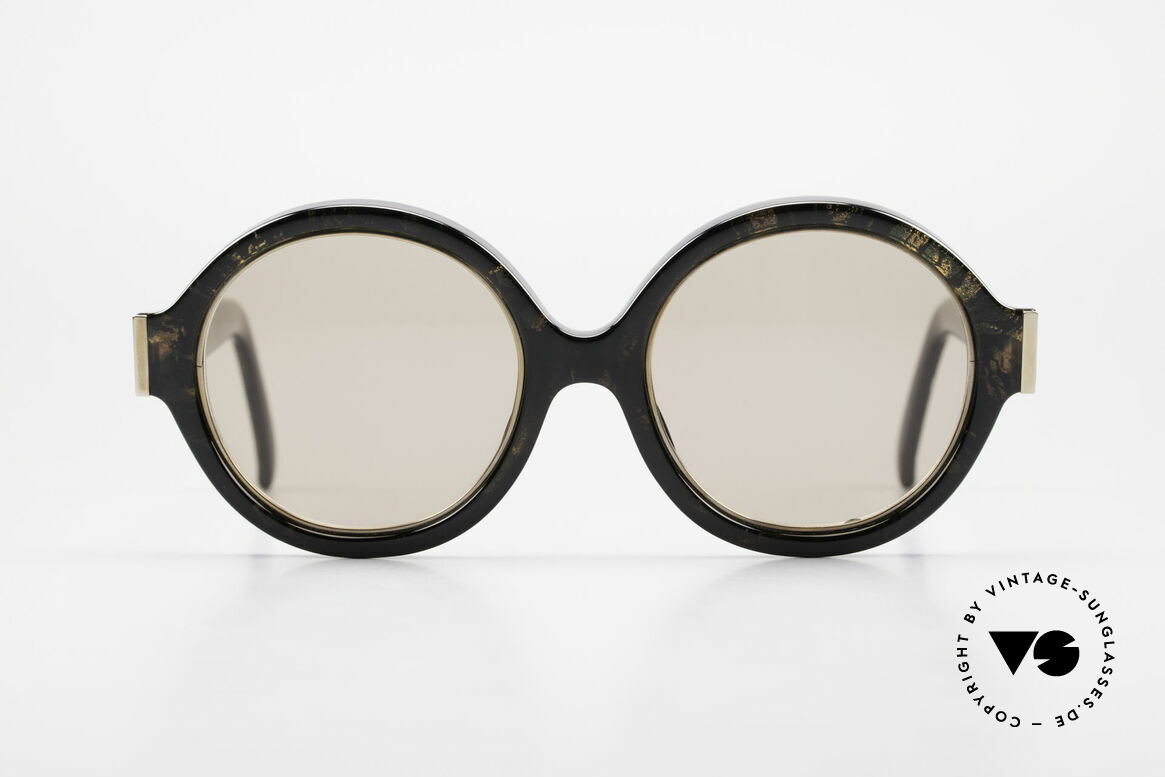 Christian Dior 2446 Round Ladies Sunglasses 80's, glamorous colors & pattern thanks to Optyl material, Made for Women