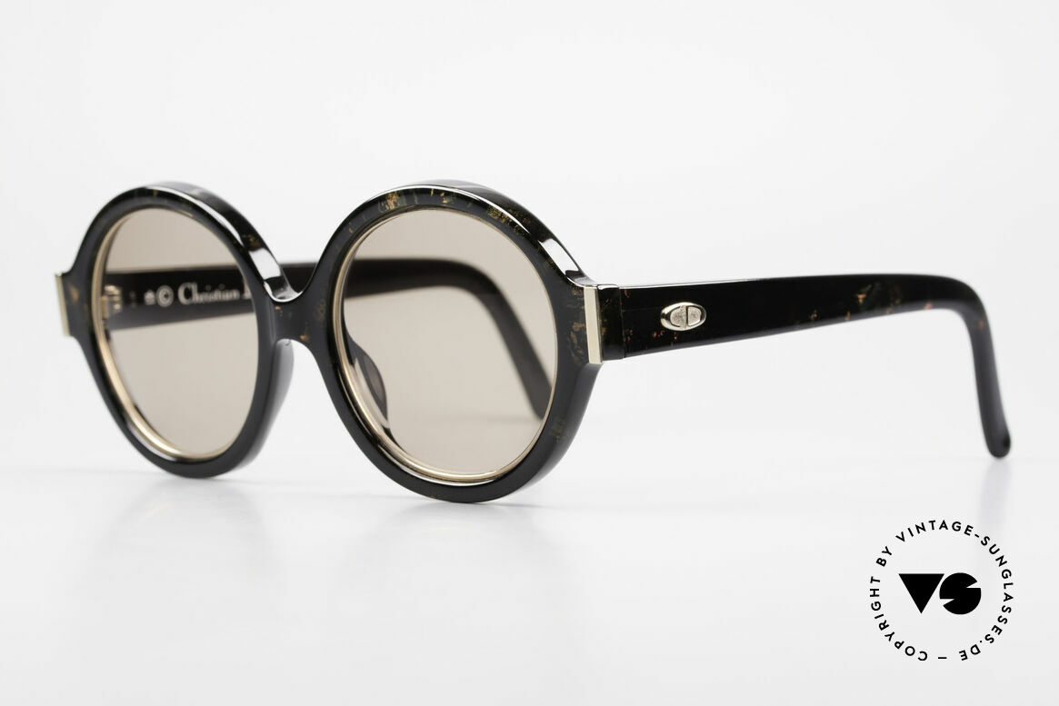 Christian Dior 2446 Round Ladies Sunglasses 80's, the incredible OPTYL material does not seem to age, Made for Women