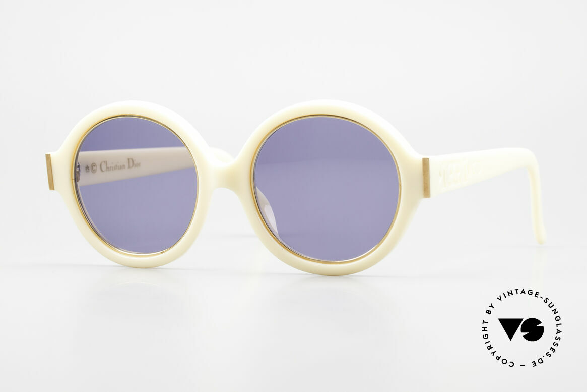 Christian Dior 2446 Round Ladies 80's Sunglasses, round 1980's ladies designer sunglasses by Chr. Dior, Made for Women