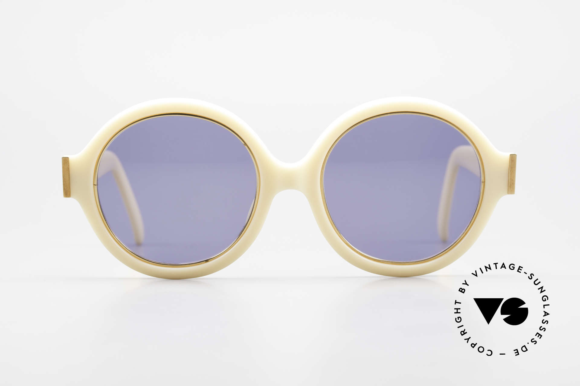 Christian Dior 2446 Round Ladies 80's Sunglasses, glamorous colors & pattern thanks to Optyl material, Made for Women