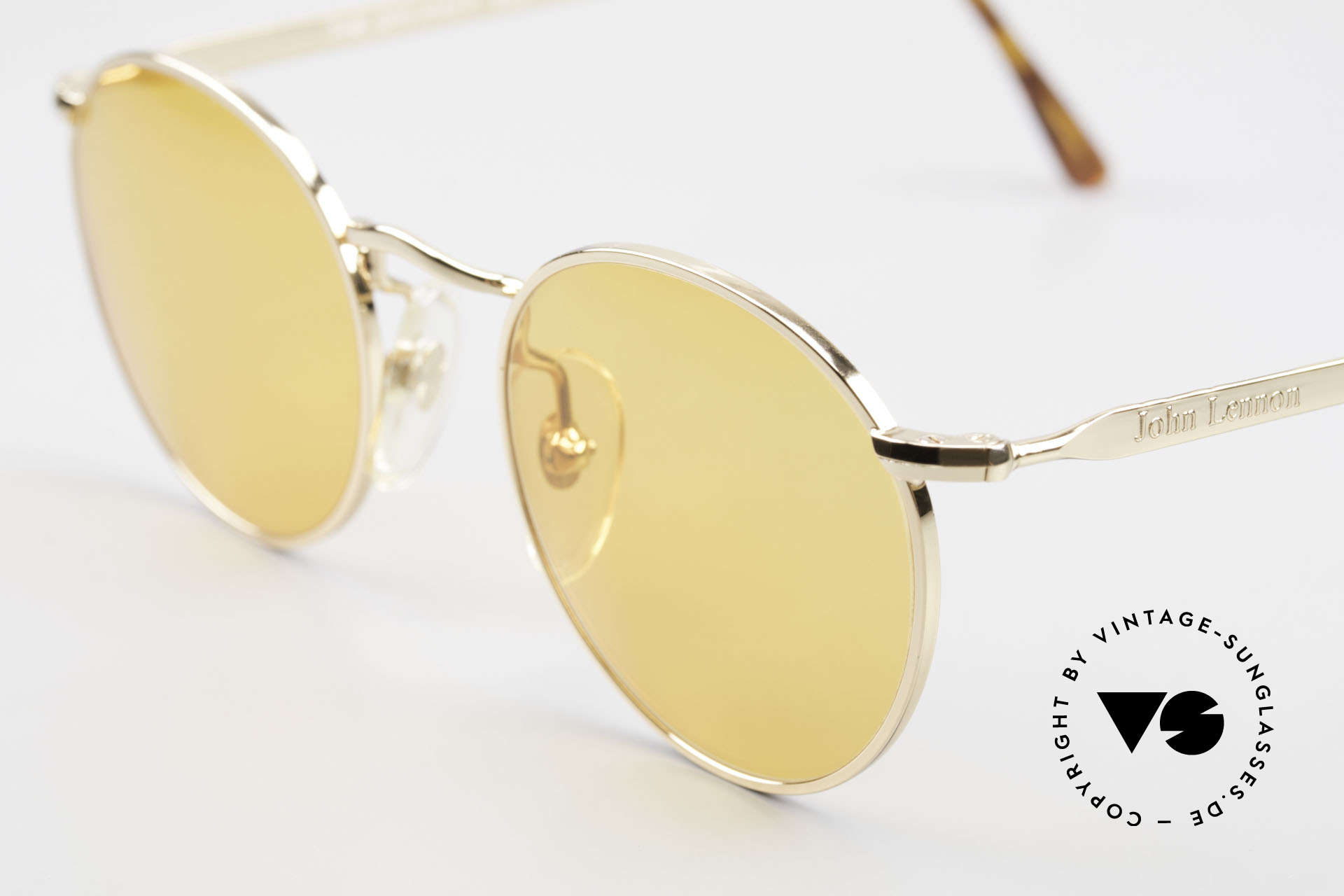 John Lennon - The Dreamer Extra Small Round Sunglasses, orange sun lenses (wearable at night); rare and unique!, Made for Men and Women
