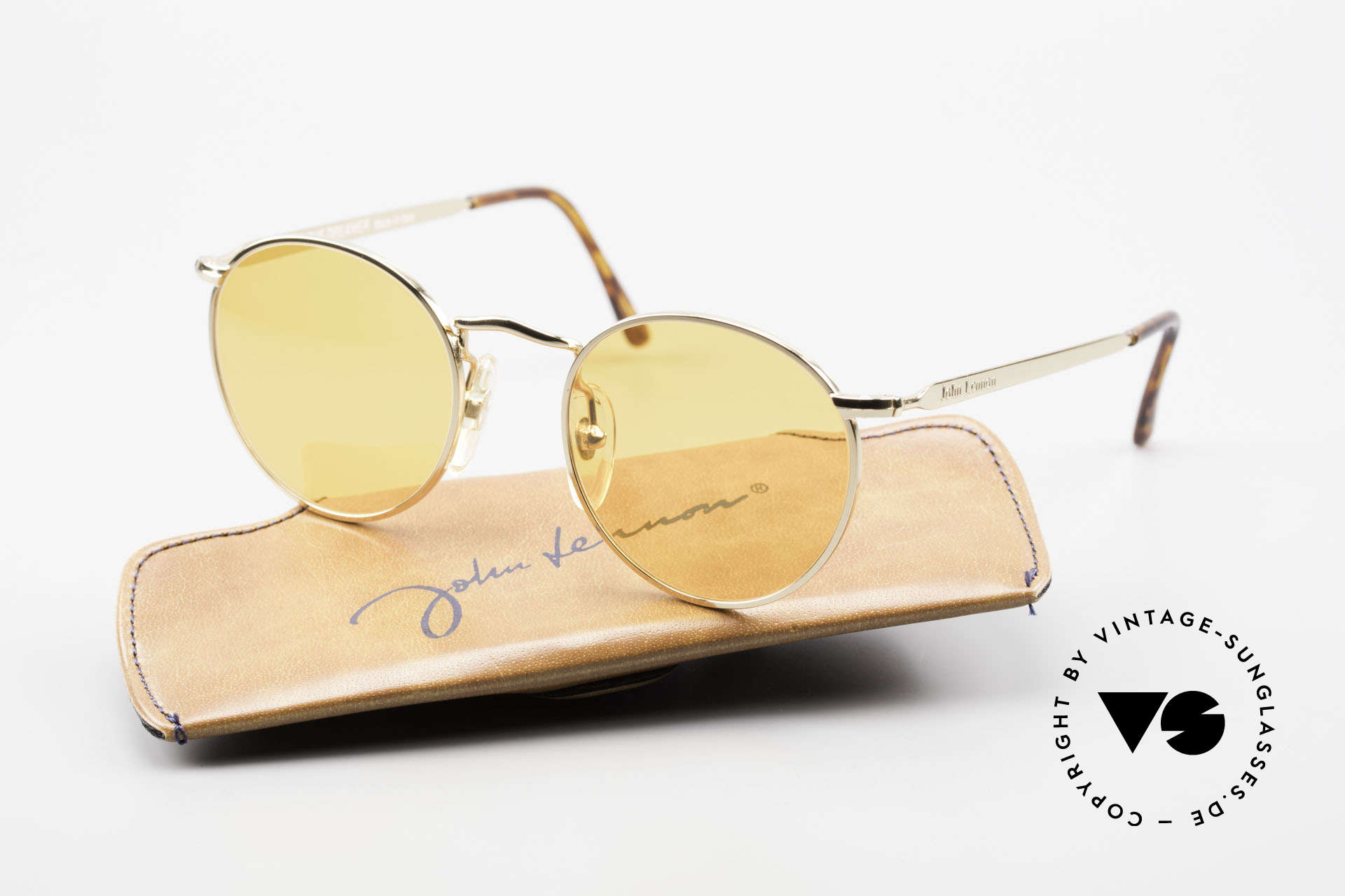 John Lennon - The Dreamer Extra Small Round Sunglasses, 118mm frame width = EXTRA SMALL fit; 47mm lens size, Made for Men and Women
