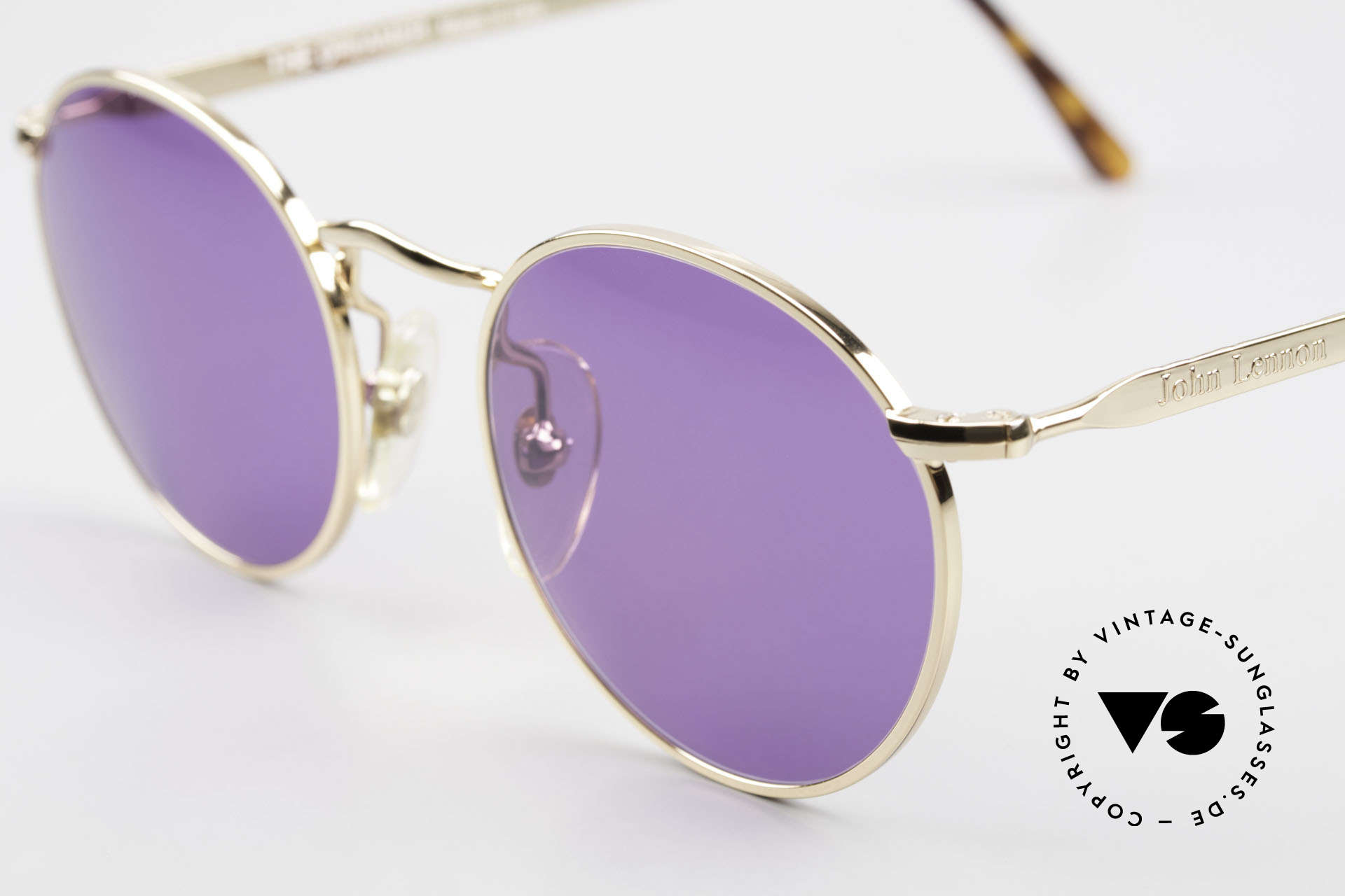 John Lennon - The Dreamer Extra Small Panto Sunglasses, purple sun lenses: fancy and eye-catching but 100% UV, Made for Men and Women