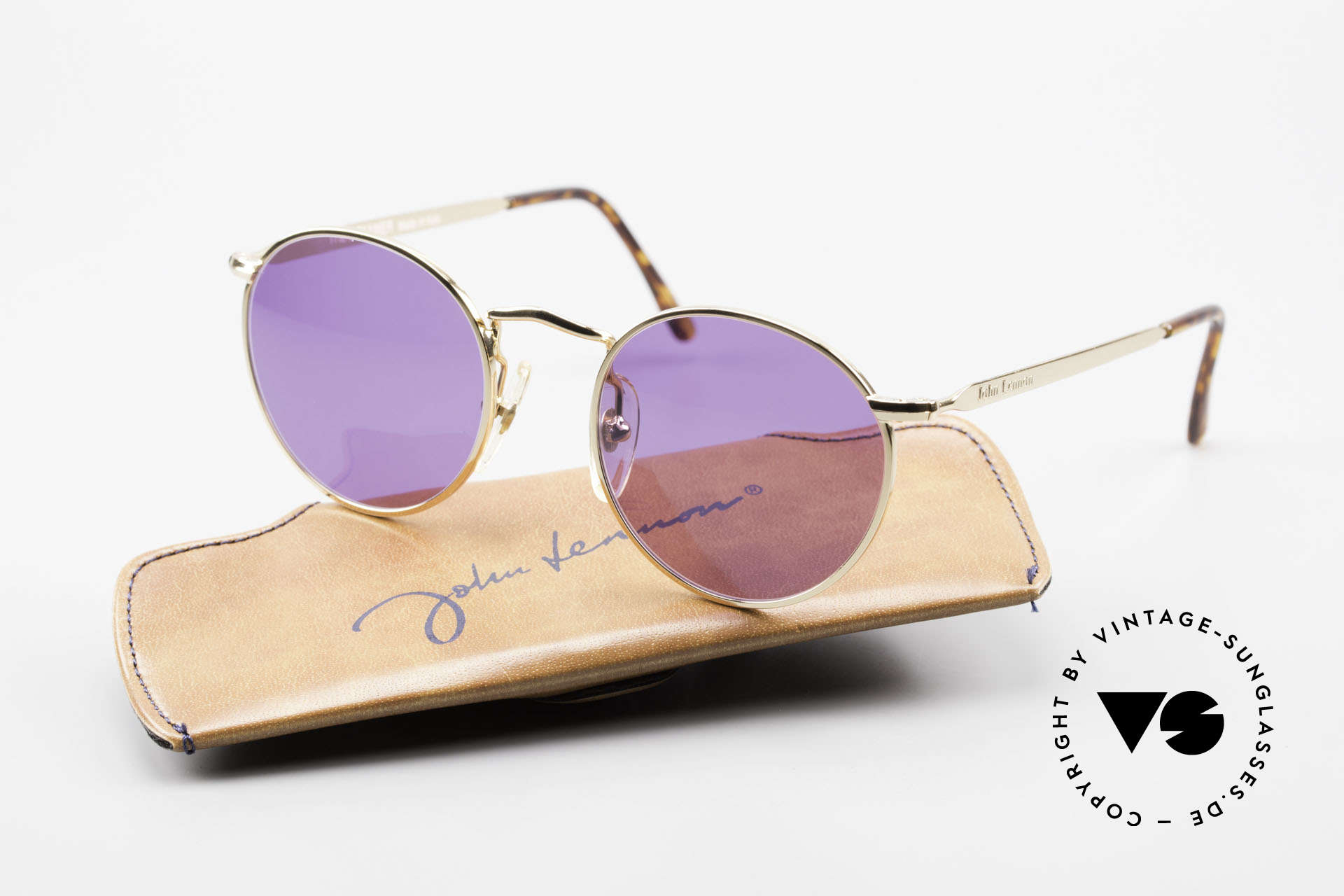 John Lennon - The Dreamer Extra Small Panto Sunglasses, 118mm frame width = EXTRA SMALL fit; 47mm lens size, Made for Men and Women